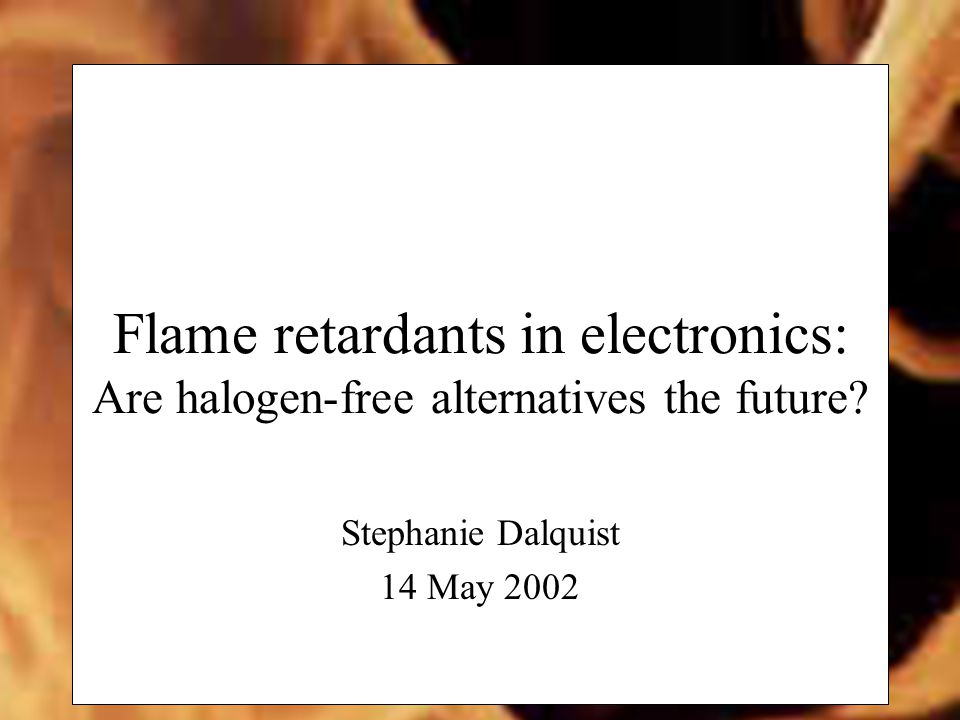 Flame retardants in electronics: Are halogen-free alternatives the future.