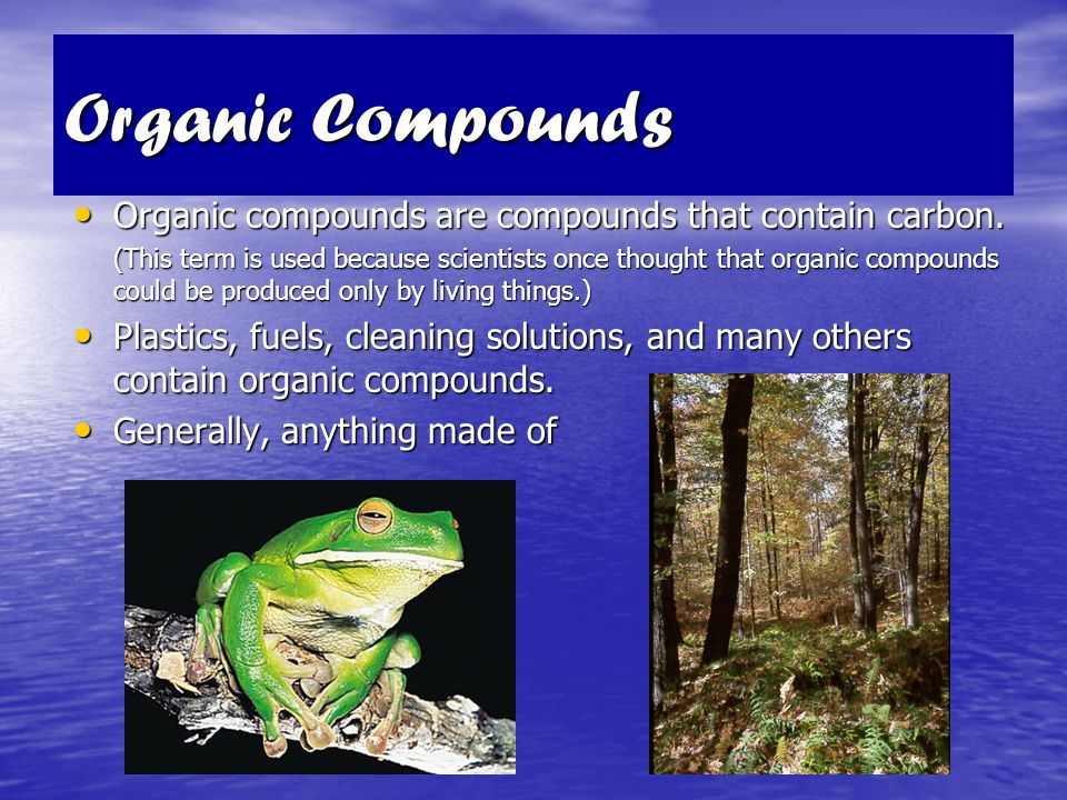Properties of Organic Compounds Organic compounds have similar properties in terms of melting points, boiling points, odor, electrical conductivity, a