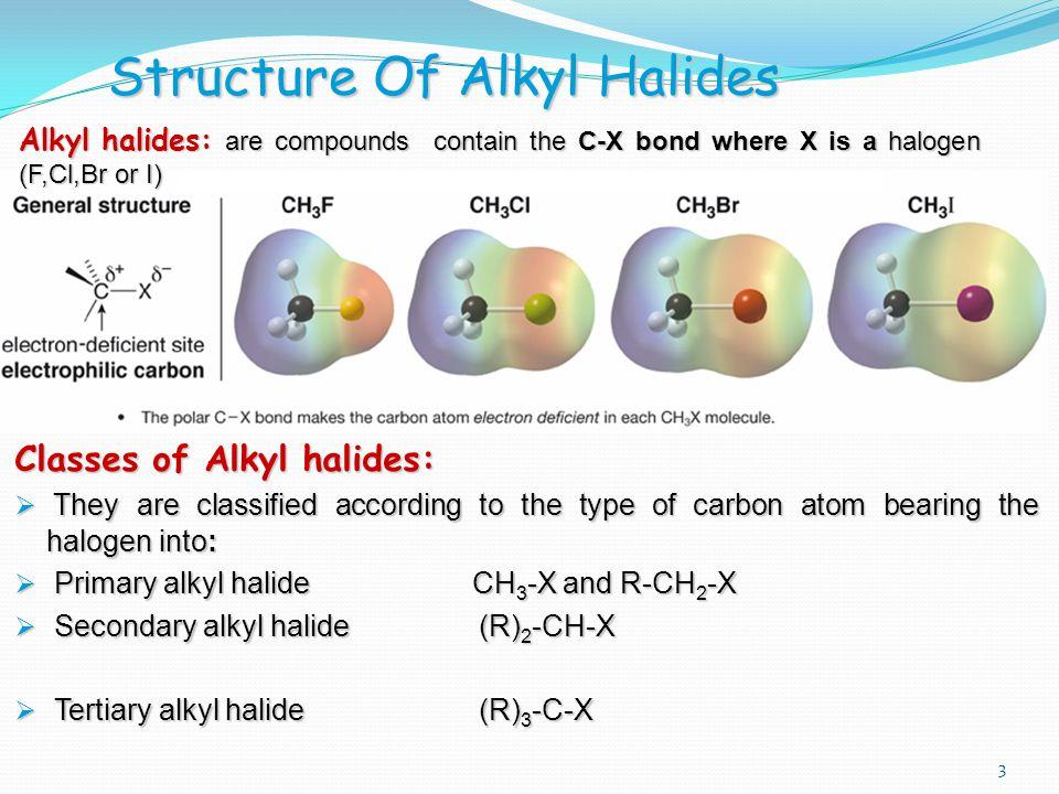 145 Chem4 CH 3 -X and R-CH 2 -X : Primary alkyl halide.