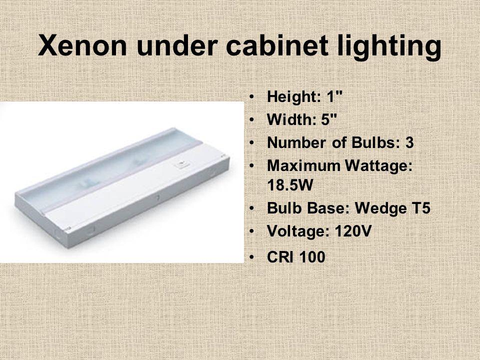 Xenon under cabinet lighting Height: 1