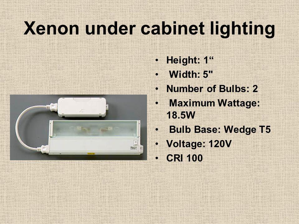 "Xenon under cabinet lighting Height: 1"" Width: 5"