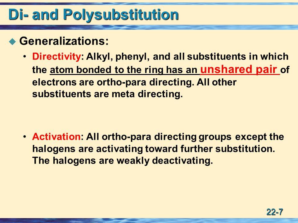 22-8 Di- and Polysubstitution.Example The order of steps is important.