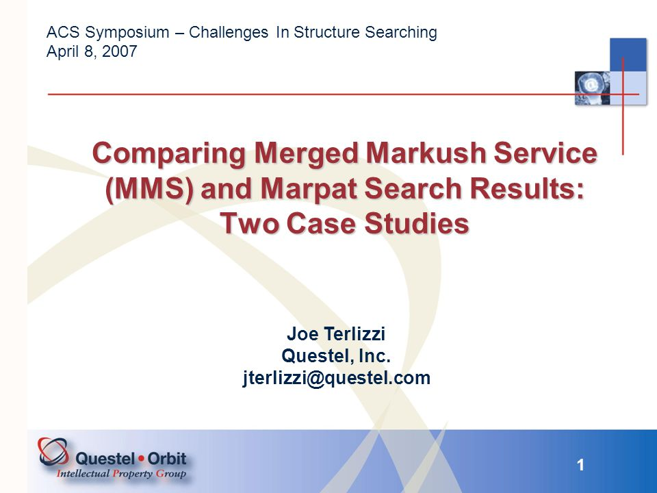 12 Comparing MMS and Marpat There were not many differences in creating this query in MMS and Marpat.