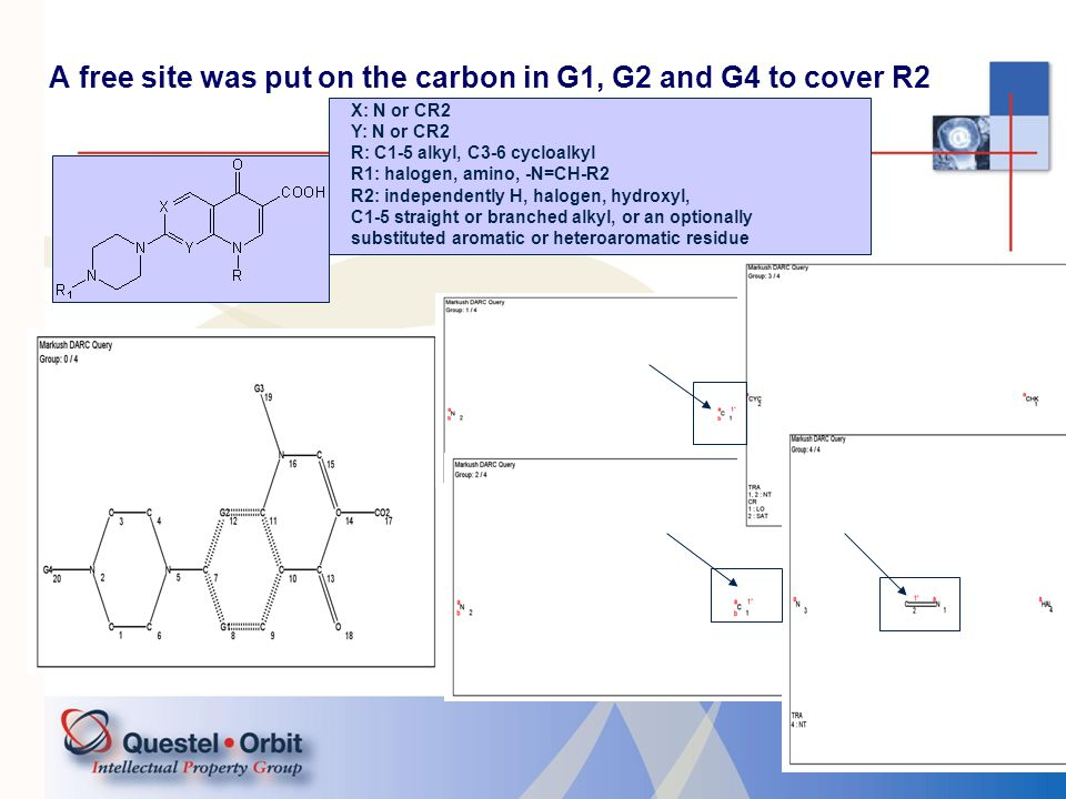 19 Case 2 Using MMS X = G1 X: N or CH Y: O, S, or NH Z: O, S, or NH R1: an unsubstituted carbocyclic or heterocyclic aromatic group, or a carbocyclic or heterocyclic aromatic group substituted with at least one lower alkyl, lower alkoxy, halogen, lower alkylthio or nitro group R2: C1-3 alkyl R3: C1-3 alkyl or R2 together with R3 may form a heterocyclic ring, which includes at least one heteroatom selected from O, N, or S.