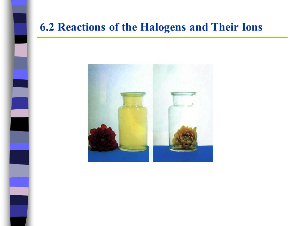 6.2 Reactions of the Halogens and Their Ions