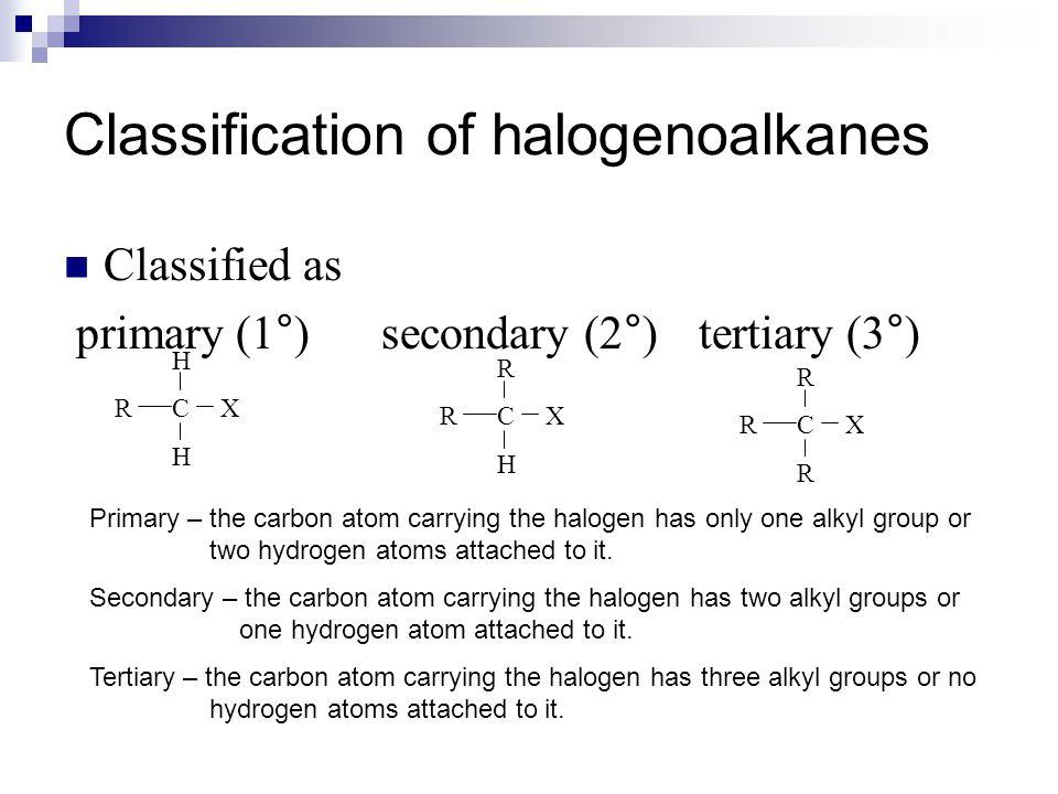 Halogenalkanes - The S N 1 Reaction E.g.