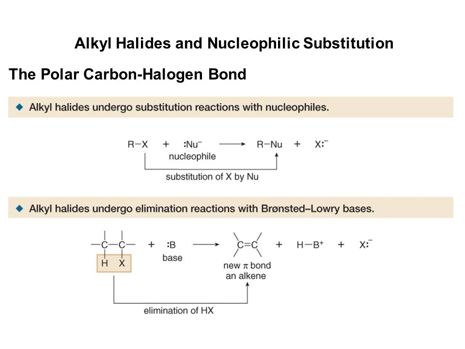 Alkyl Halides and Nucleophilic Substitution The Polar Carbon-Halogen Bond