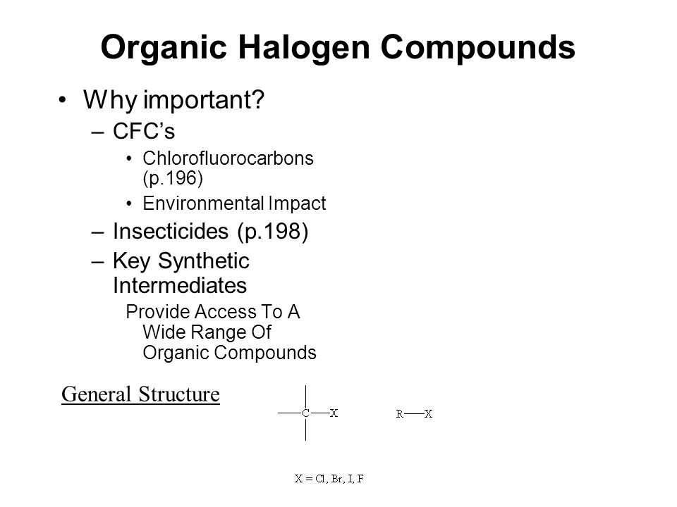 Organic Halogen Compounds Why important.