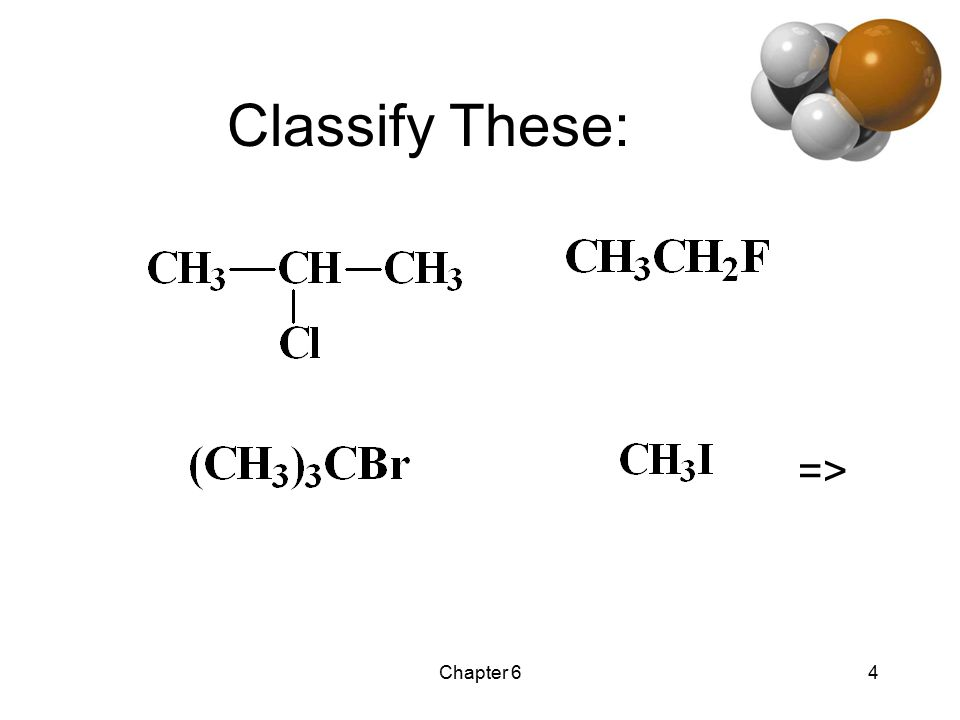 Chapter 64 Classify These: =>