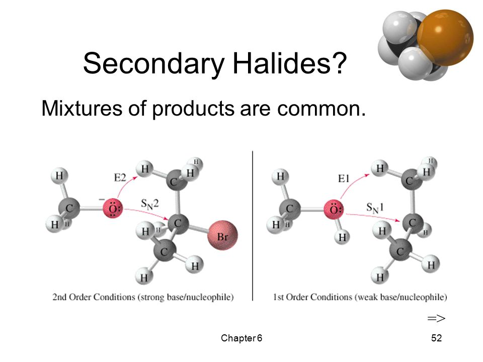 Chapter 652 Secondary Halides Mixtures of products are common. =>