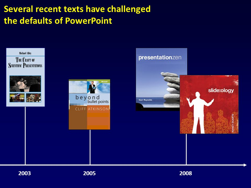 We advocate an assertion–evidence slide structure that is grounded in communication research [Fishbone, 2008]