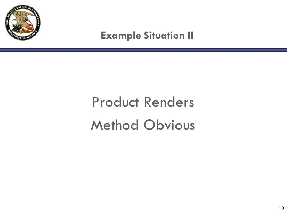 10 Example Situation II Product Renders Method Obvious