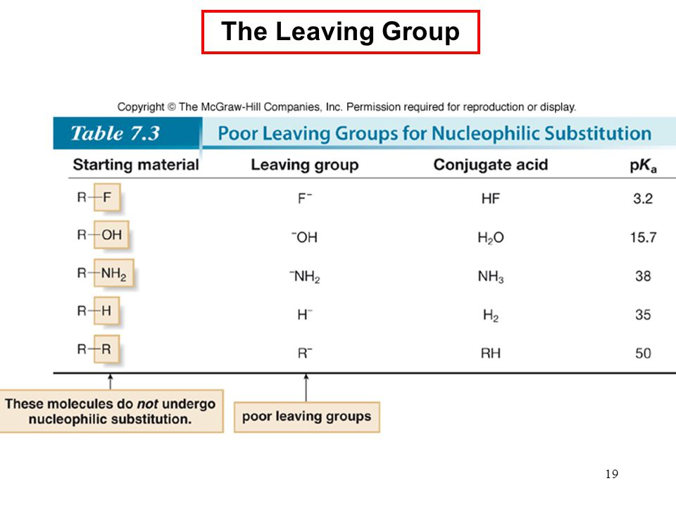 19 The Leaving Group