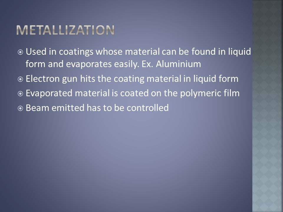  Used in coatings whose material can be found in liquid form and evaporates easily.