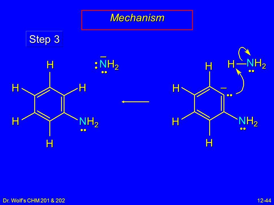 Dr. Wolf's CHM 201 & 20212-44 Mechanism NH2NH2NH2NH2 – Step 3 HHH H NH2NH2NH2NH2 – NH2NH2NH2NH2 H H HHH H NH2NH2NH2NH2