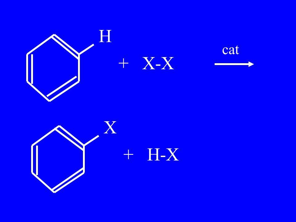 H + X-X X + H-X cat