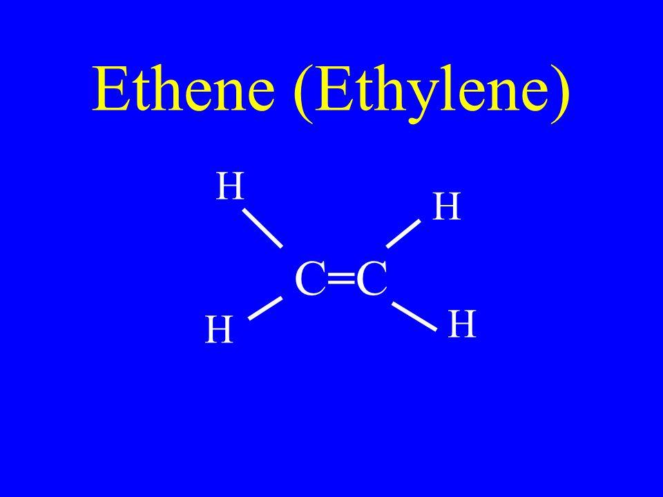 Ethene (Ethylene) C=CC=C H H H H
