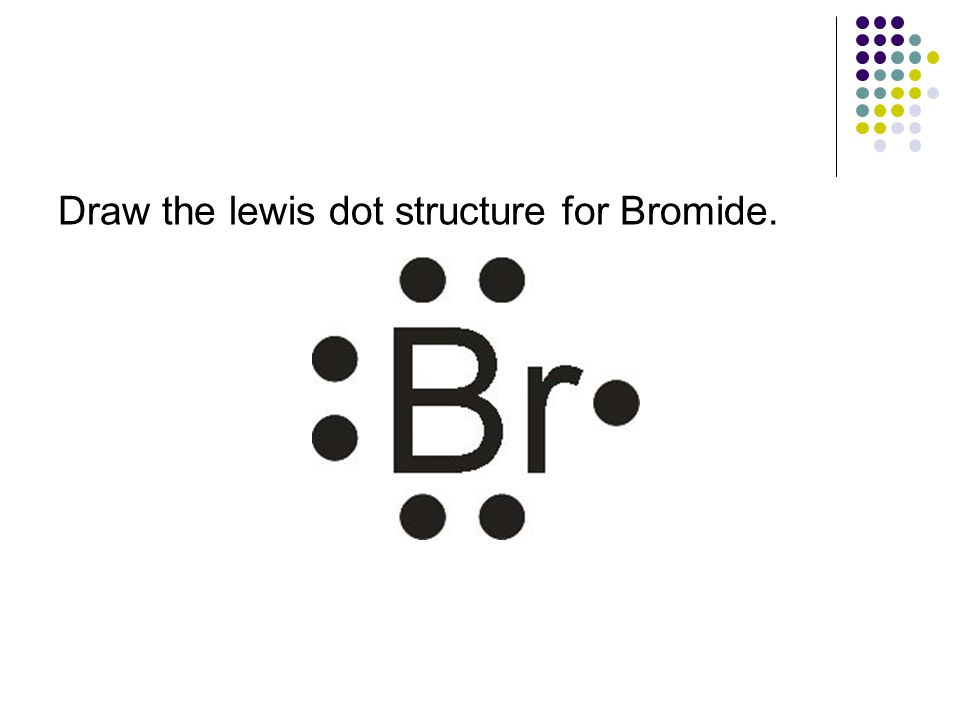 Draw the lewis dot structure for Bromide.