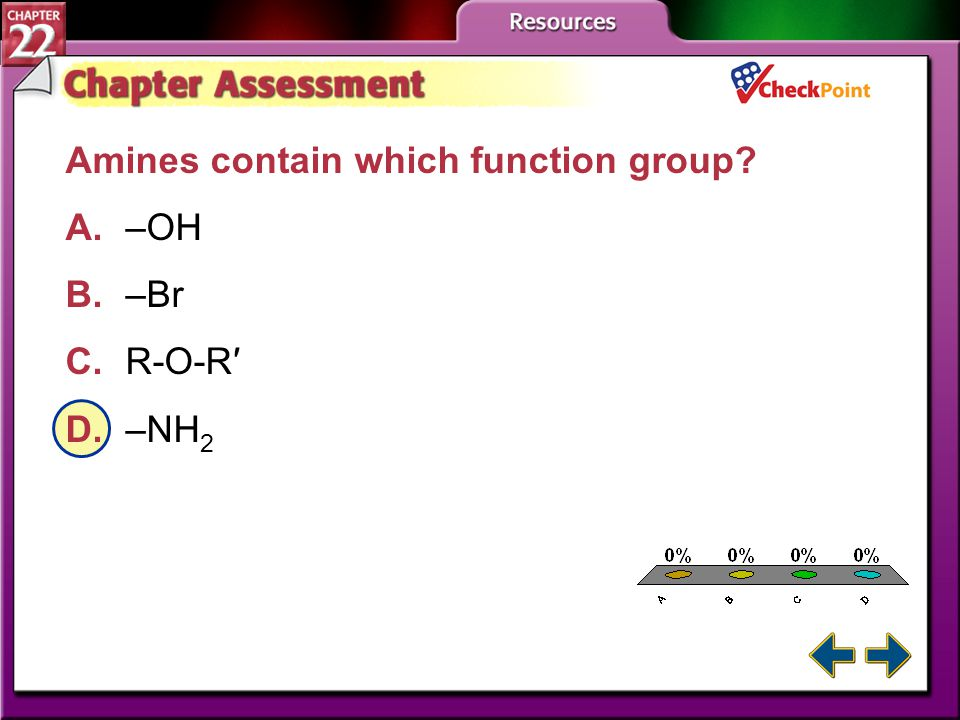A.A B.B C.C D.D Chapter Assessment 1 Aryl halides contain what two groups? A.nitrogen and aliphatic hydrocarbon chain B.nitrogen and aromatic hydrocar