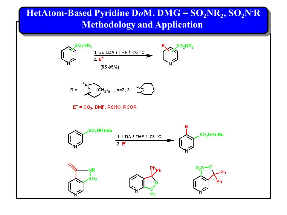 HetAtom-Based Pyridine DoM.