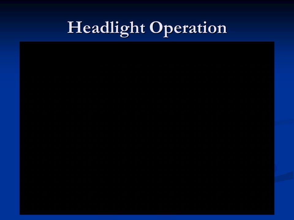 Headlight Operation