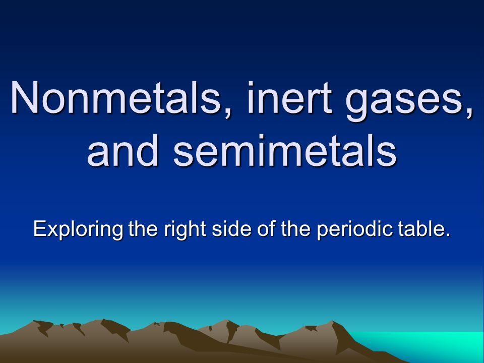 Properties of non metals Nonmetals lack the properties of metals.