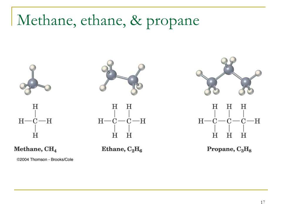 17 Methane, ethane, & propane