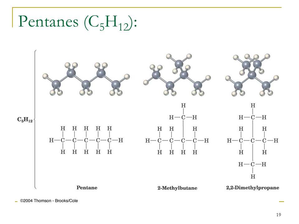 19 Pentanes (C 5 H 12 ):