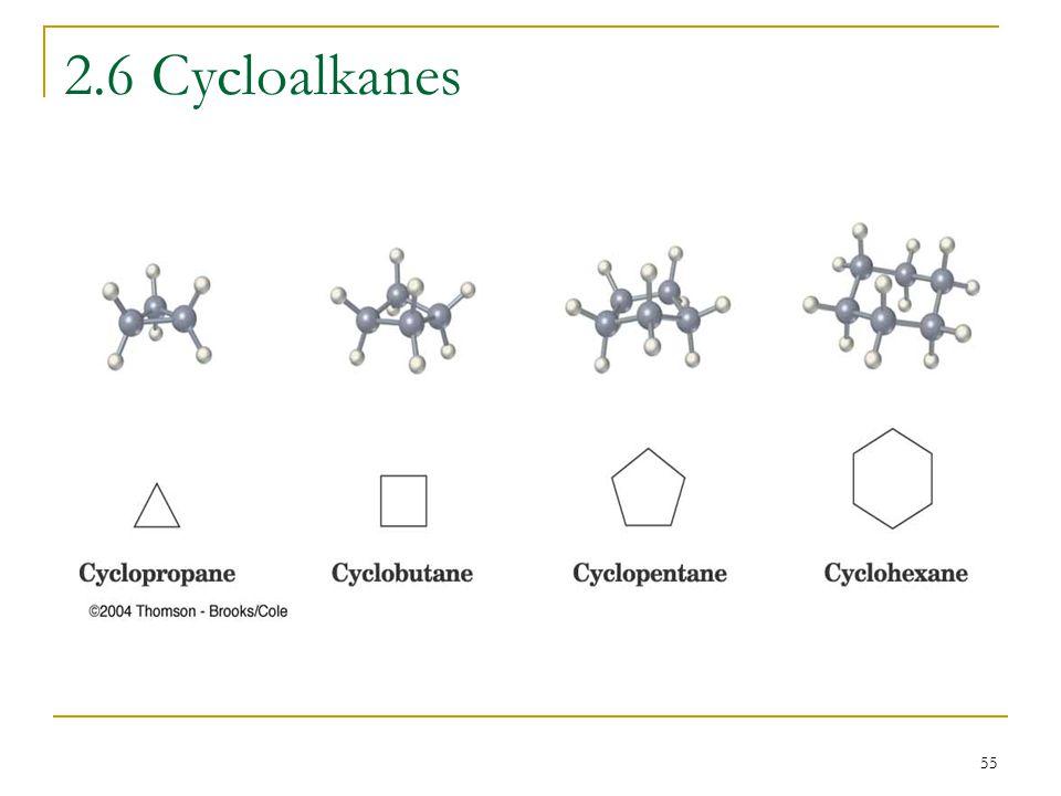 55 2.6 Cycloalkanes
