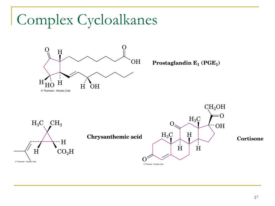 57 Complex Cycloalkanes