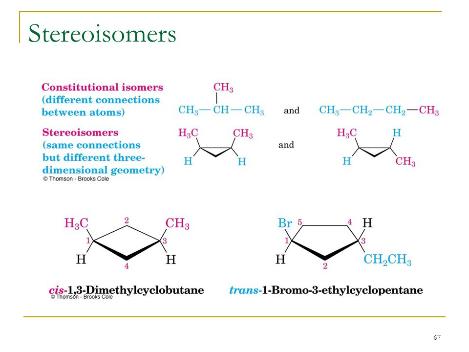 67 Stereoisomers