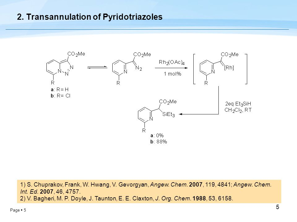 Page  5 5 2. Transannulation of Pyridotriazoles 1) S.