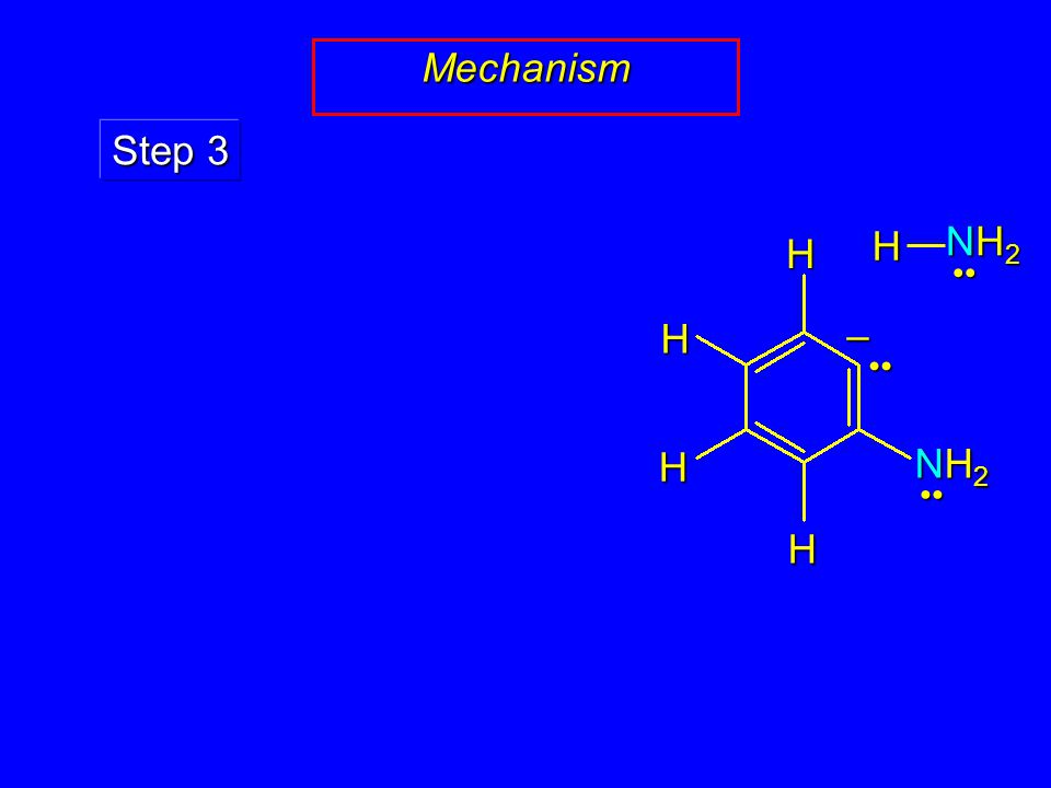 Mechanism Step 3 HHH H NH2NH2NH2NH2 – NH2NH2NH2NH2 H