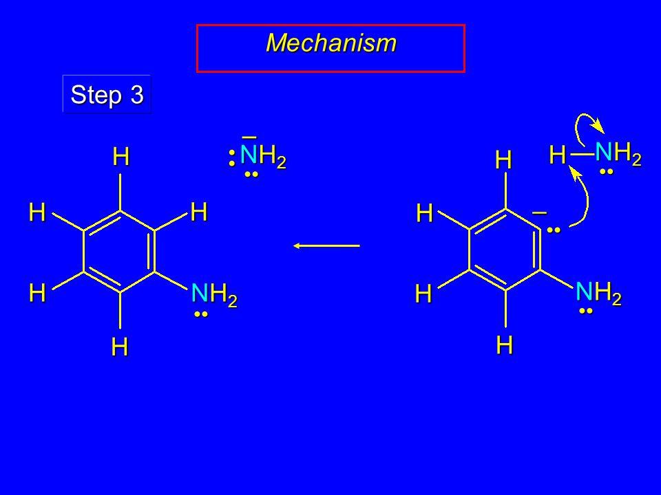 Mechanism NH2NH2NH2NH2 – Step 3 HHH H NH2NH2NH2NH2 – NH2NH2NH2NH2 H H HHH H NH2NH2NH2NH2