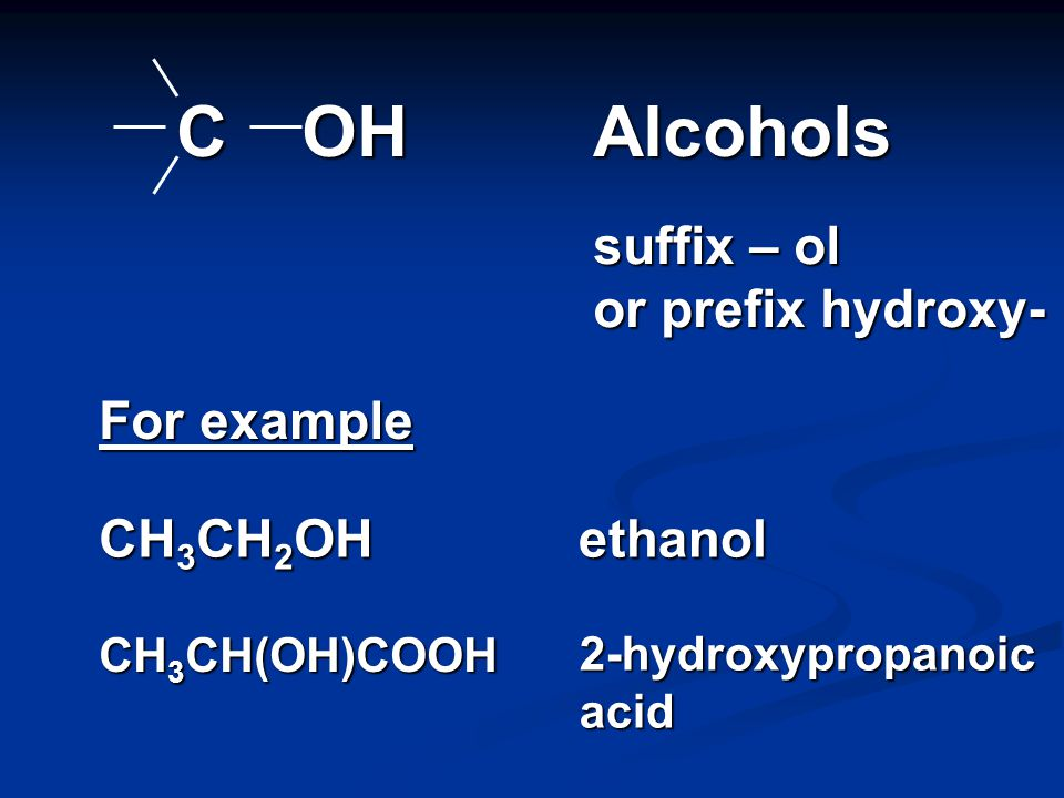 CX Halogenoalkanes prefix halo - For example CH 3 CH 2 Cl chloroethane X = Cl, Br or I