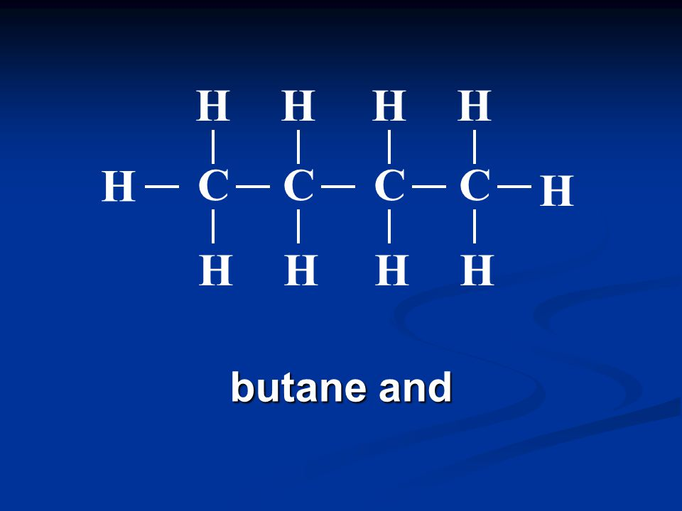 pentane A condensed structural formula can also be used which omits the bonds.