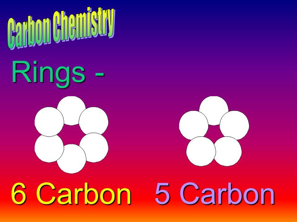 Rings - 6 Carbon 5 Carbon