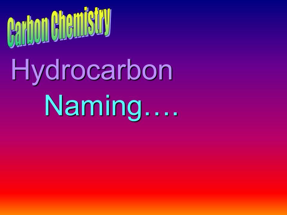 Hydrocarbon Naming….