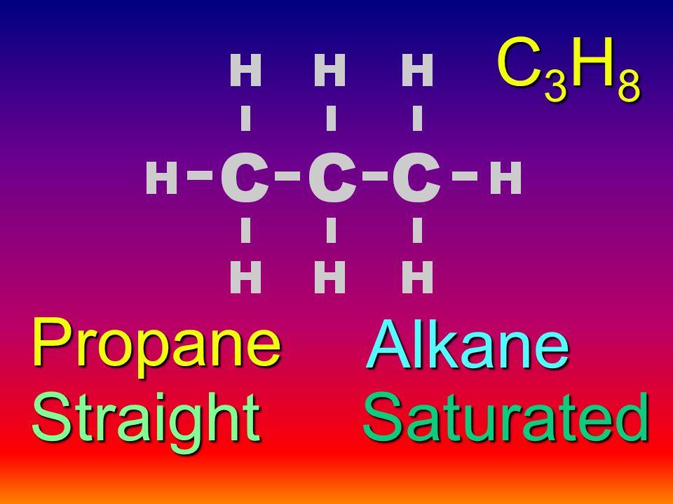 Alkane StraightSaturated Propane C3H8C3H8C3H8C3H8