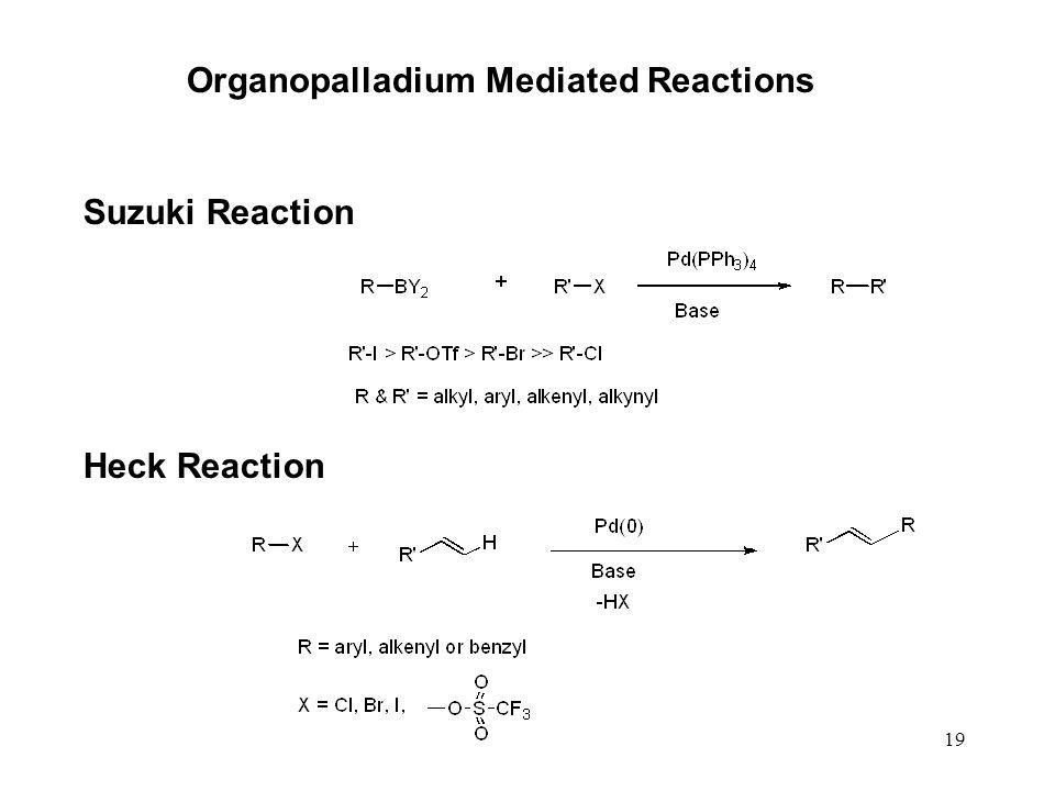 19 Organopalladium Mediated Reactions Suzuki Reaction Heck Reaction