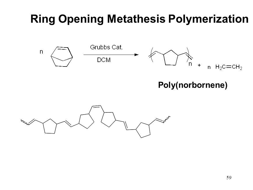 59 Ring Opening Metathesis Polymerization Poly(norbornene)