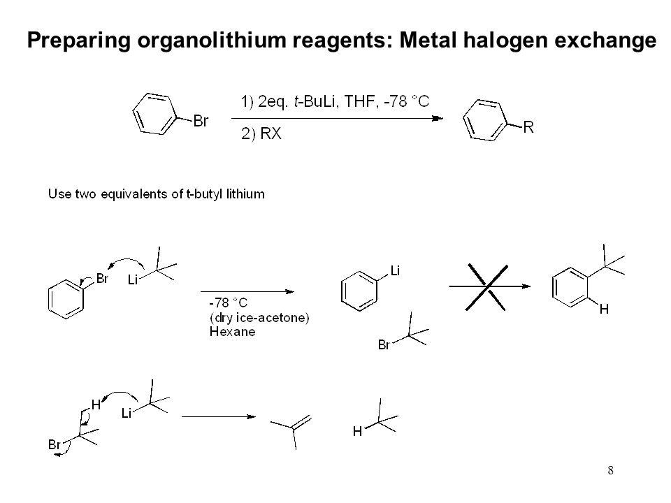 8 Preparing organolithium reagents: Metal halogen exchange
