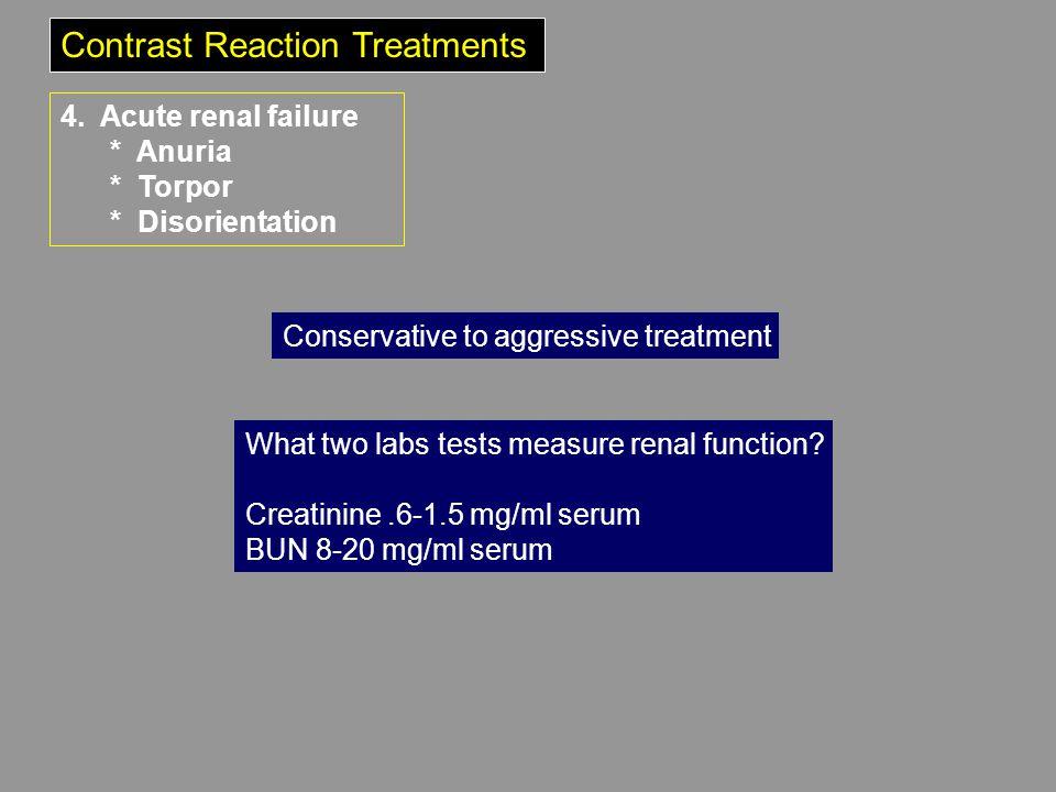 Contrast Reaction Treatments 4.