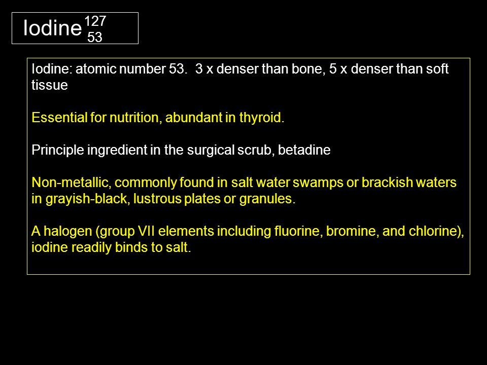 Iodine Iodine: atomic number 53.