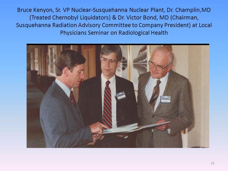 Bruce Kenyon, Sr. VP Nuclear-Susquehanna Nuclear Plant, Dr.