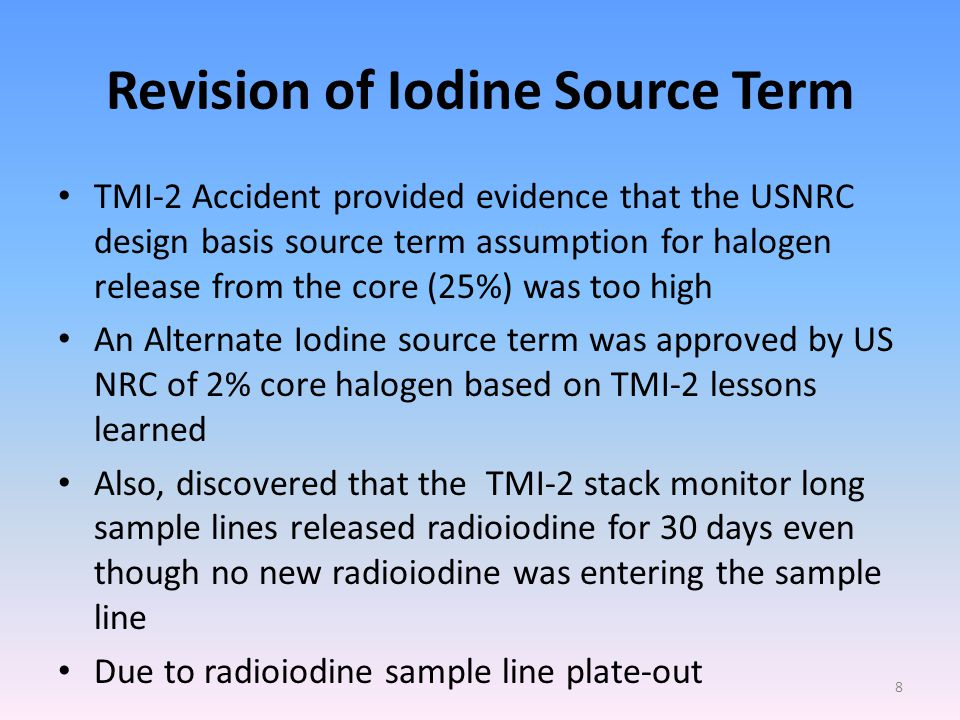 TMI-2 RP Instrumentation Lessons Learned: Containment Monitor Why the Contanment Area Monitor Failed to Provide Accurate Dose Rate Information during the TMI-2 Accident and Recovery Phases.