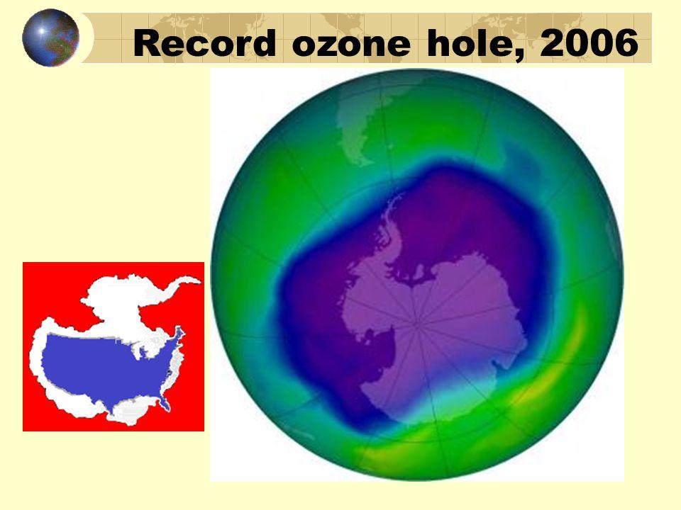 Record ozone hole, 2006