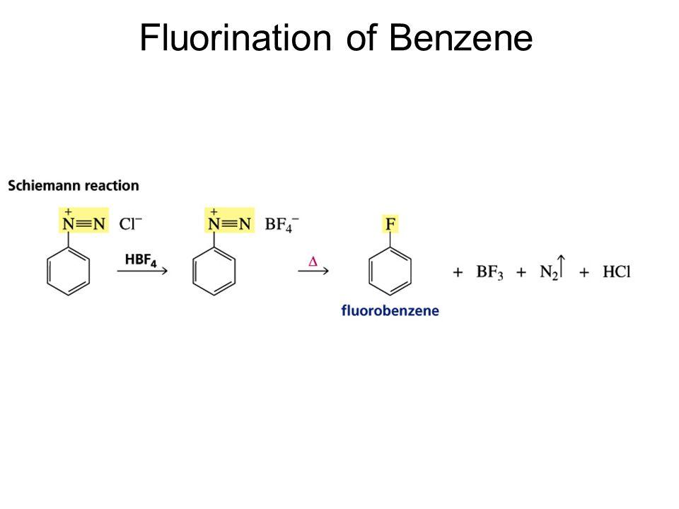 Fluorination of Benzene