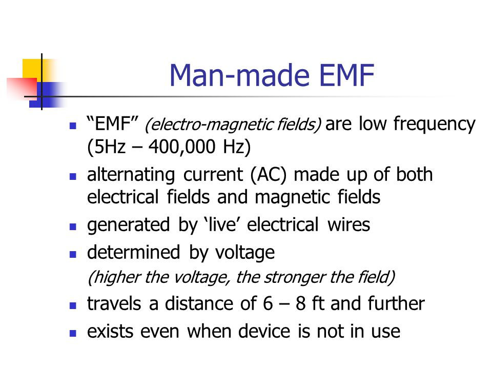 Sources of Electrical Fields house wiring in ceilings, walls, floors power and extension cords, power bars electric blankets, waterbeds, TV's, computers, electronic devices high voltage power lines