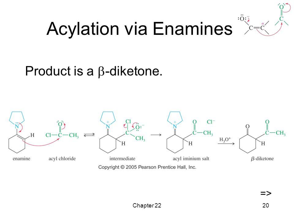 Chapter 2220 Acylation via Enamines Product is a  -diketone. =>